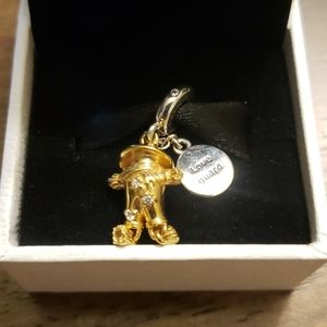 Pandora love guard gold scarecrow charm